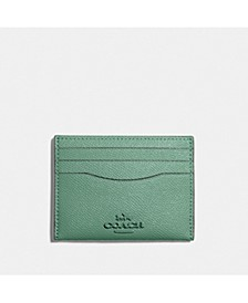 Crossgrain Leather Flat Card Case