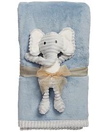 Chick Pea Baby Boy 2pc Plush Blanket Set