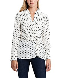 Women's Twist Front Collared Blouse