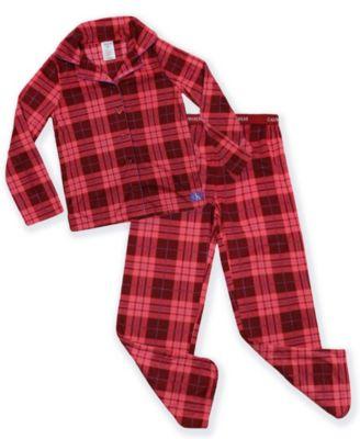 Big Girls 2-Piece Plaid Coat Pajama Set