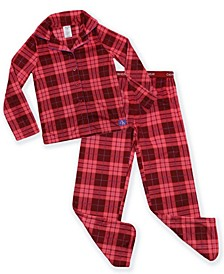 Big Girls 2-Piece Plaid Coat Pajama Set