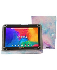 Android 10 Tablet with Marble Case