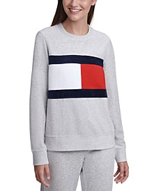 Colorblocked Velour Sweatshirt