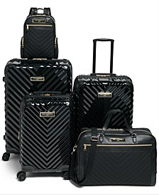 Karl Lagerfeld Chevron Luggage Collection
