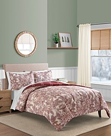 Poinsettia 3-Pc Comforter Set