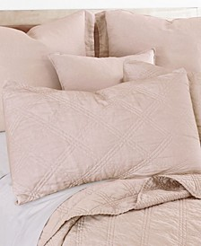 Quilted Linen King Sham
