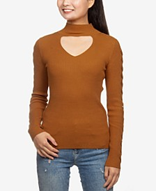 Juniors' Choker Sweater