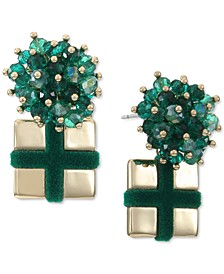INC Beaded Bow Present Drop Earrings, Created for Macy's