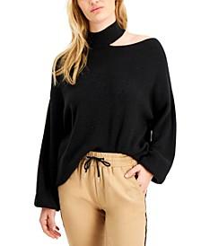 Cutout Mock-Neck Sweater