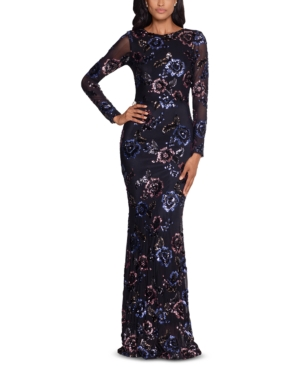 Floral Sequined Gown