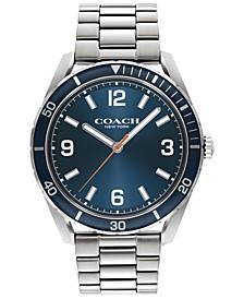 Men's Preston Stainless Steel Bracelet Watch 44mm