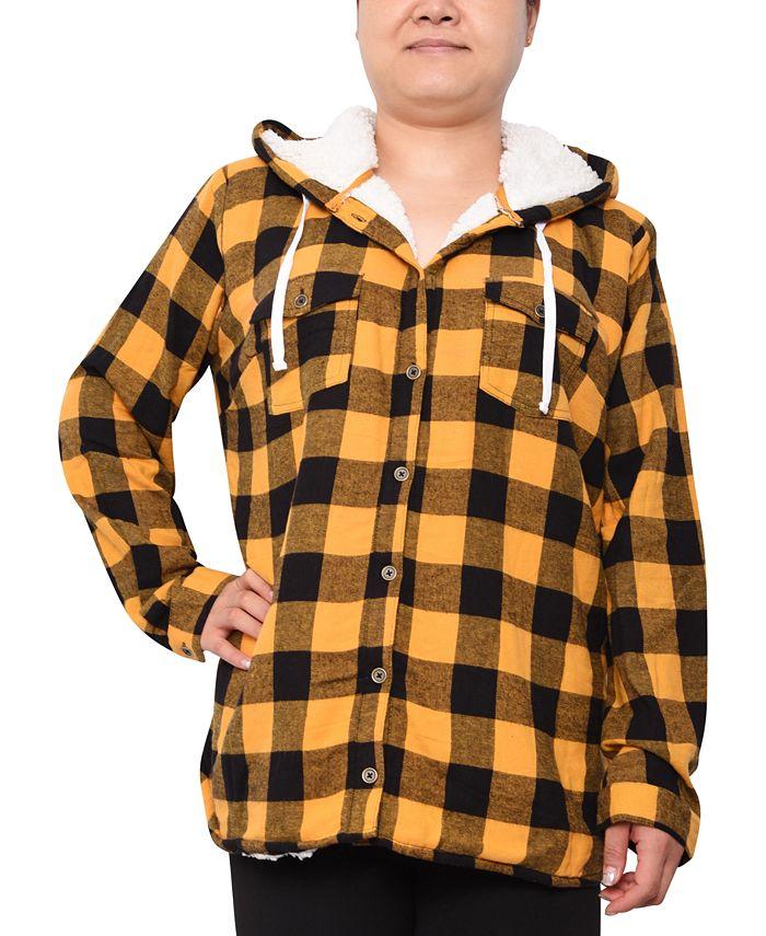 Derek Heart - Trendy Plus Size Plaid Hooded Top