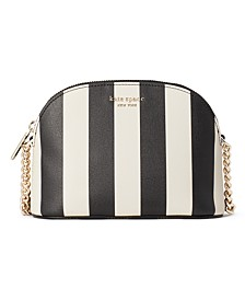 Spencer Stripe Small Dome Crossbody