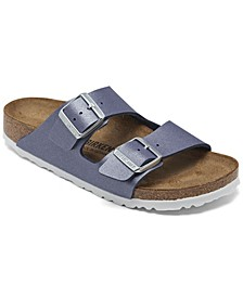 Women's Arizona Birko-Flor Icy Metallic Soft Footbed Sandals from Finish Line