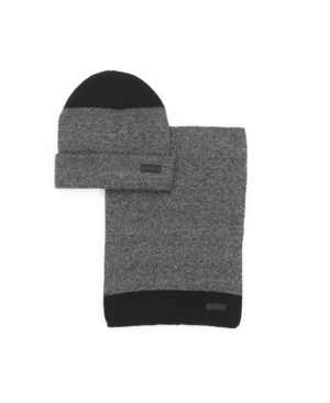 Kenneth Cole Reaction Men's 2-Piece Marled Knit Scarf and Beanie Set