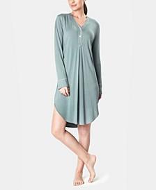 Ultra Soft Ribbed Knit Women's Sleepshirt Nightgown