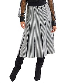 Women's Stripe Knit Skirt