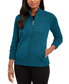 Petite Zip-Front Cardigan Sweater, Created for Macy's