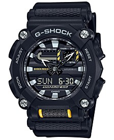 Men's Analog Digital Black Resin Strap Watch 50mm