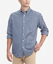Men's Syd Classic-Fit Mini-Tartan Shirt