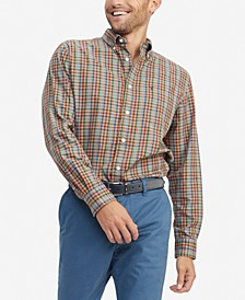 Men's Gillian Classic-Fit TH Flex Stretch Plaid Shirt