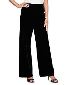 Petite Stretch Velvet Pants