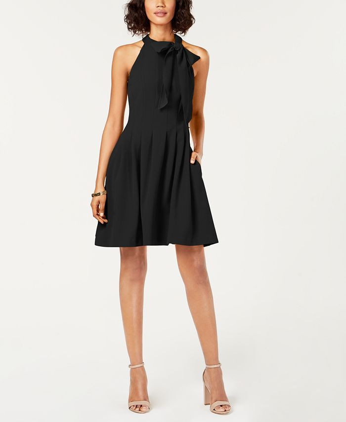 Vince Camuto - Bow-Neck Fit & Flare Dress