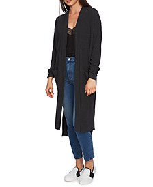 Ribbed Open-Front Cardigan