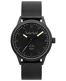 Men's Black Stainless Steel Mesh Bracelet Watch 40mm
