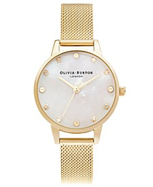 Women's Classics Gold-Tone Mesh Bracelet Watch 30mm