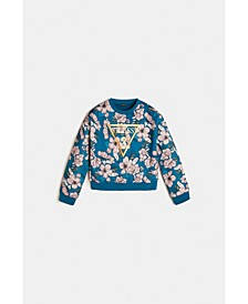 Big Girls Foil Print Logo Scuba Knit Sweatshirt