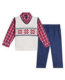 Baby Boys Snowflake Sweater Vest Set