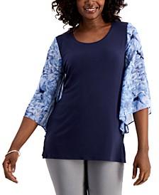 Chiffon-Sleeve Top, Created for Macy's