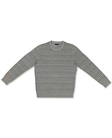 Men's Ottoman Textured Crewneck Sweater, Created for Macy's