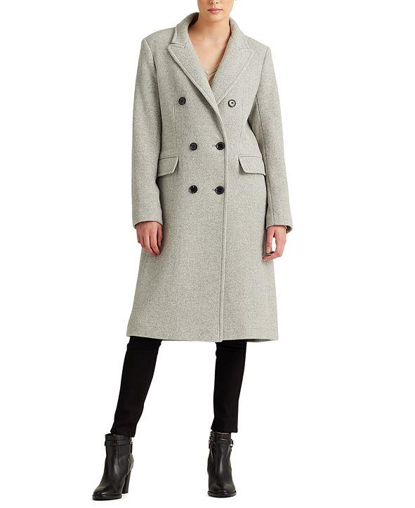 Lauren Ralph Lauren Herringbone Double-Breasted Coat