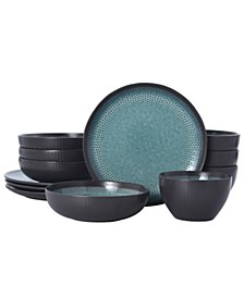 maddox 12 pc dinnerware set, service for 4
