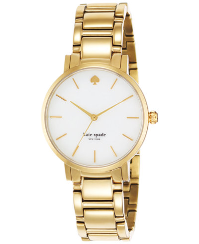 kate spade new york Watch, Women's Gramercy Gold-Tone Bracelet 34mm 1YRU0002