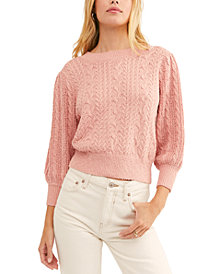 Free People Villa Cable Pullover Sweater