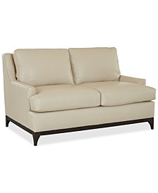 "Skylee 65"" Leather Loveseat, Created for Macy's"