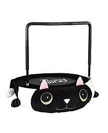 "36"" Kitty Cat Plush Jumper Kids Trampoline with Handrail"