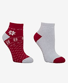 Women's Terry Ankle Socks, Pack of 2