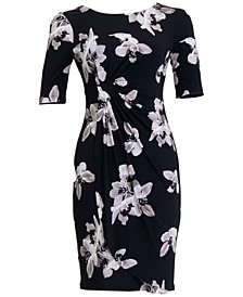 Plus Size Floral Sheath Dress