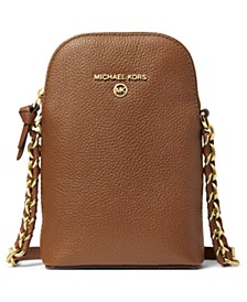Leather Jet Set Charm North South Chain Phone Crossbody