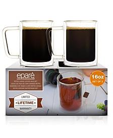 Retro Large 16-Oz. Coffee Mugs, Set of 2