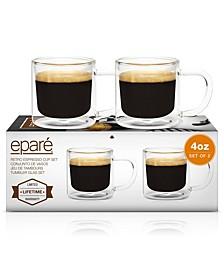 Retro 4-Oz. Espresso Cups, Set of 2