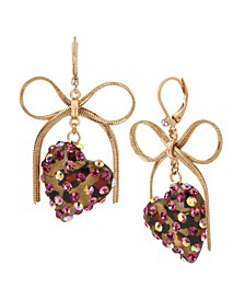 Leopard Heart Drop Earrings