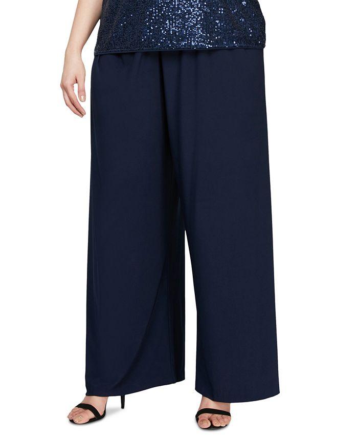 Alex Evenings - Plus Size Wide-Leg Pants