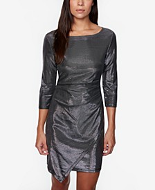 Juniors' Bonded Metallic Bodycon Dress