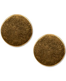 Sculptural Circle Button Earrings