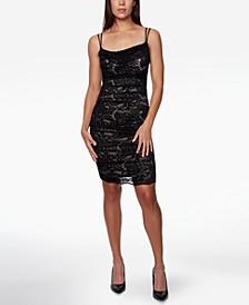 Juniors' Short Lace Bodycon Dress